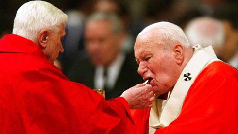 Pope Benedict XVI Pope John Paul II