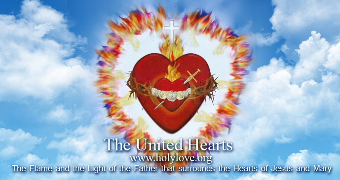 The Flames nad the Light of The Fatherthat surrounds the Hearts of Jesus and Mary